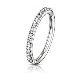 Steinbesetzter Ring aus 14 Karat  Gold mit Scharnier